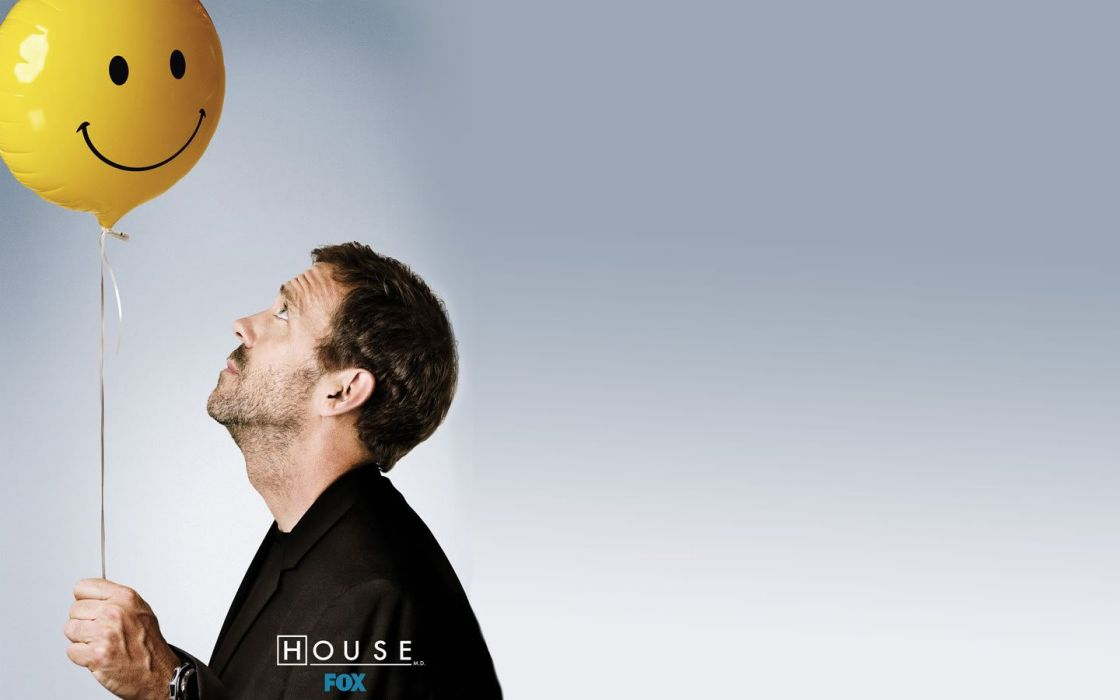 Hugh Laurie Gregory House Balloons House M D Wallpaper 1440x900