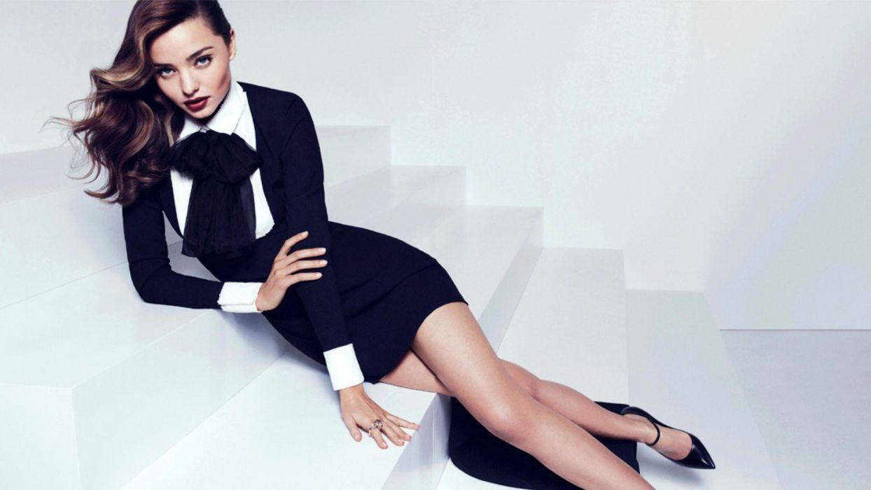brunettes legs women Miranda Kerr dress models stairways Victorias Secret Australian Victorias Secret Angels wallpaper