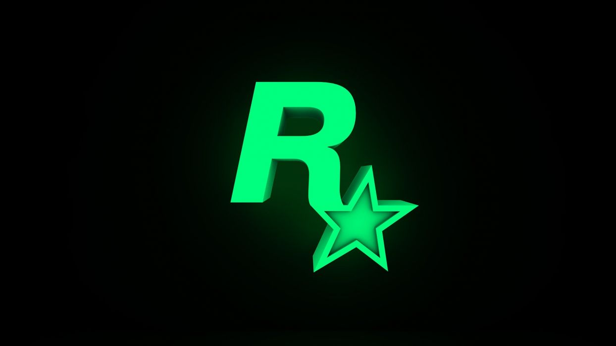 Rockstar Games logos simple background wallpaper