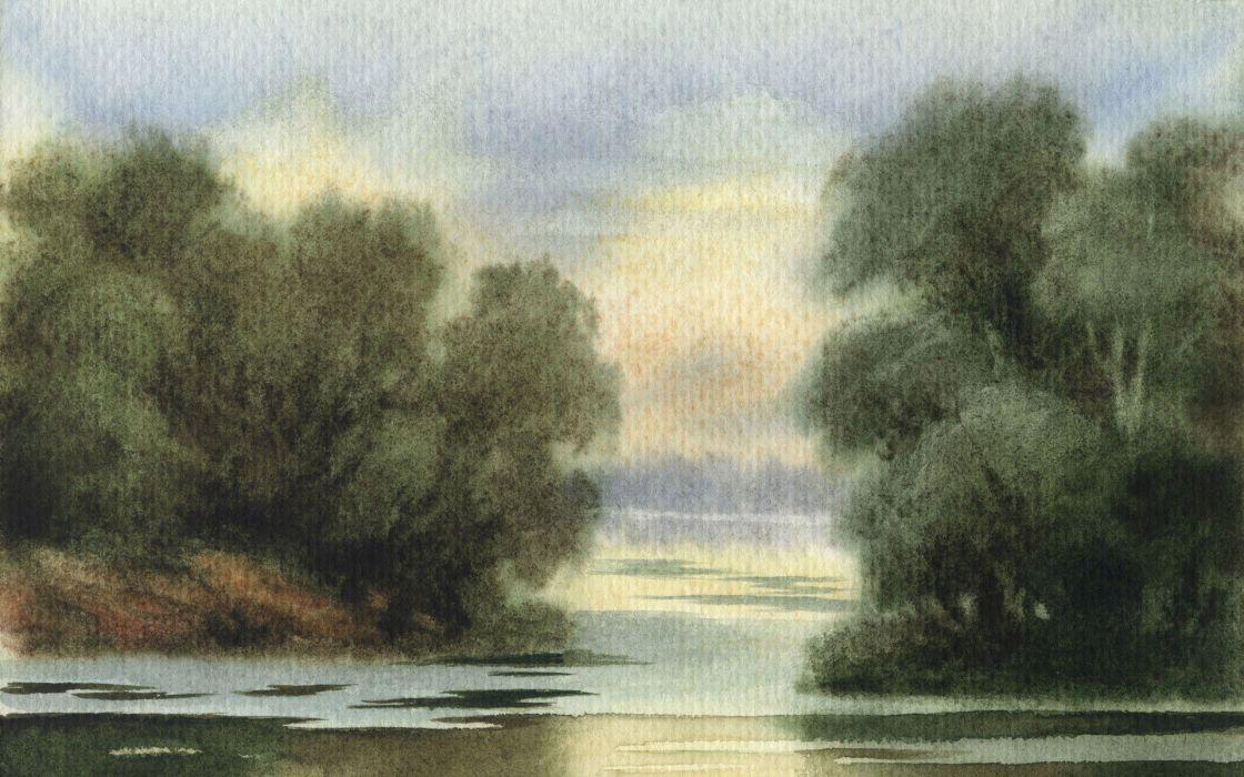 paintings artwork watercolor wallpaper