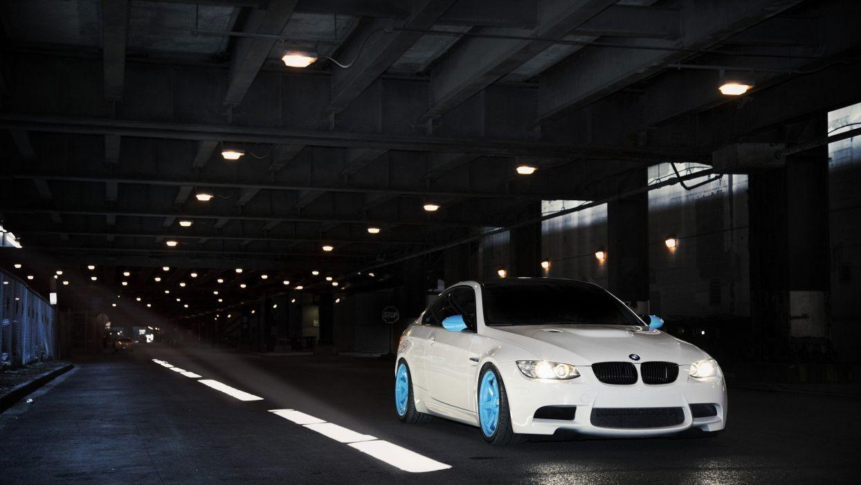 white tunnels wheels BMW M3 sports cars wallpaper