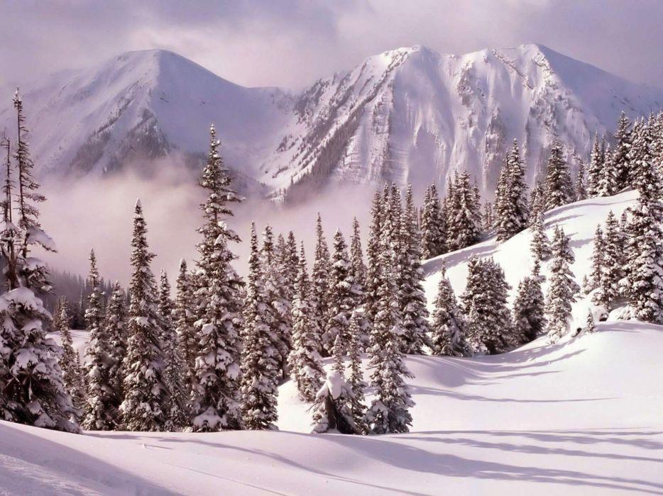 mountains landscapes nature winter snow wallpaper