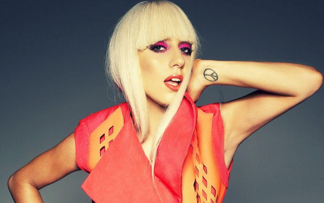 women Lady Gaga singers wallpaper