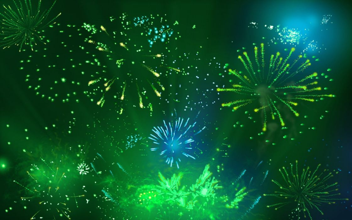 abstract multicolor fireworks wallpaper