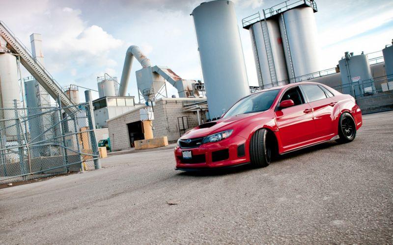 cars red cars Subaru Impreza WRX STI wallpaper