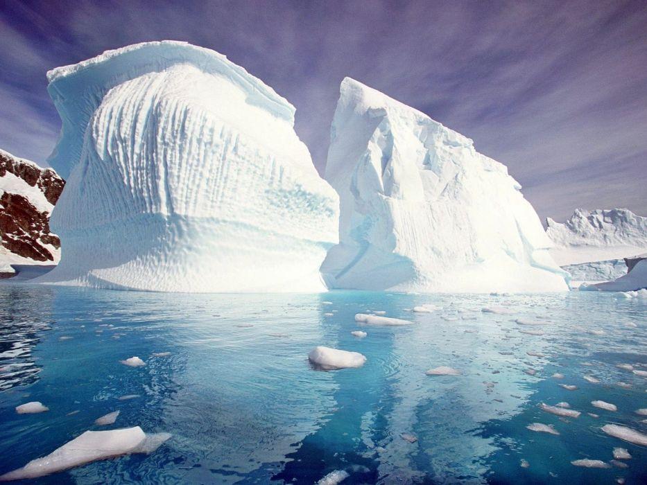 water nature frozen icebergs wallpaper