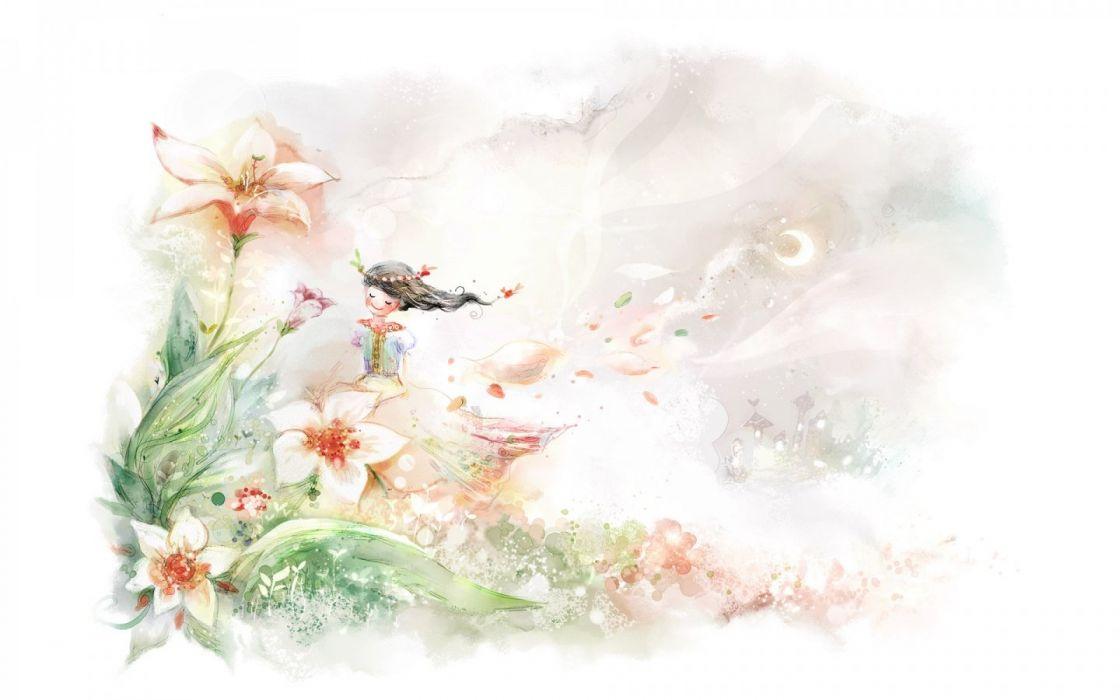 flowers digital art wallpaper