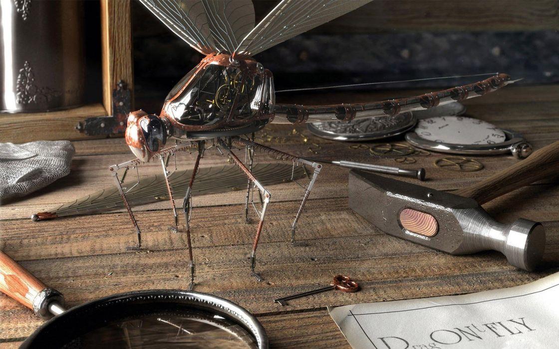 digital dragonfly wallpaper