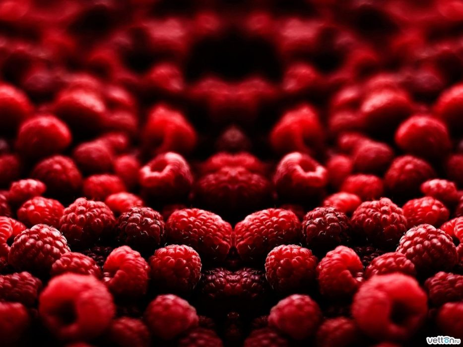 red fruits raspberries wallpaper