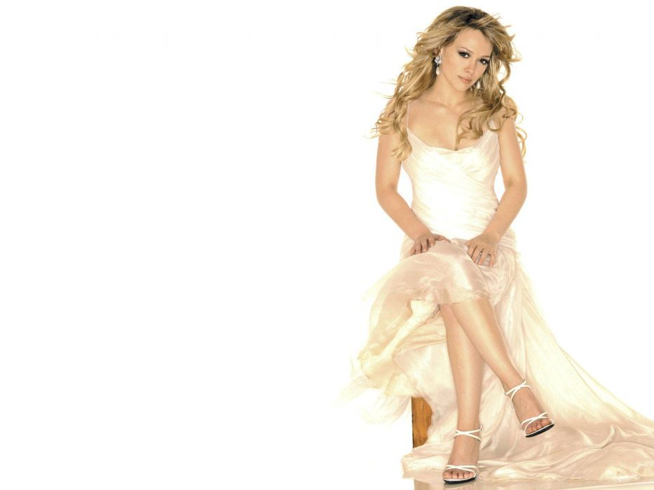 blondes women Hilary Duff white background wallpaper