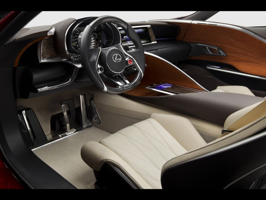 Hybrid Lexus concept art dashboards coupe wallpaper