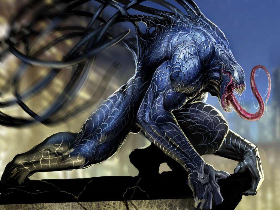 comics Venom Spider-Man superheroes heroes Marvel Comics wallpaper