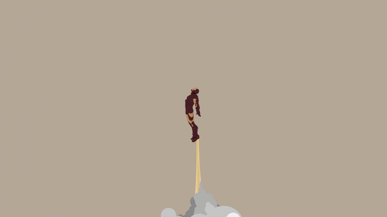 minimalistic Iron Man wallpaper