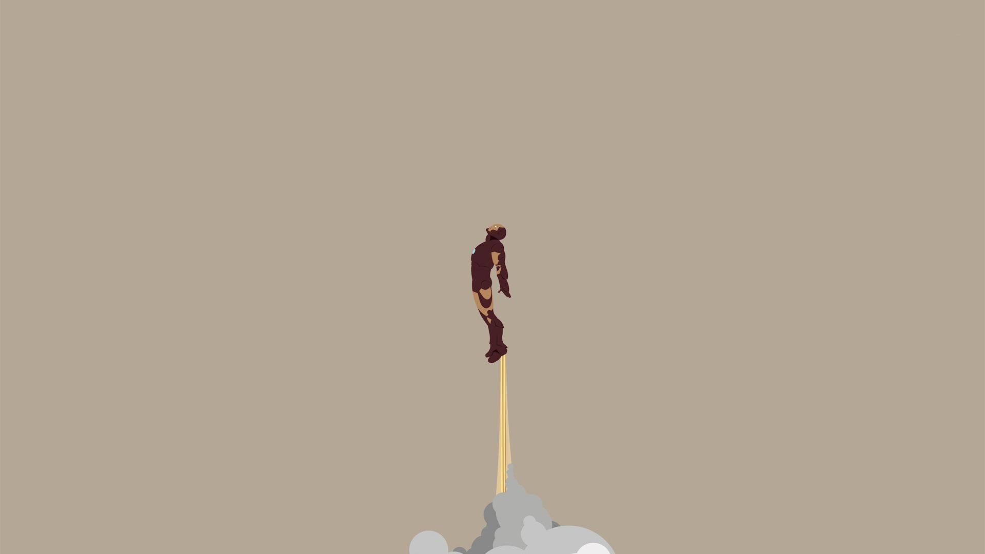 Minimalistic Iron Man Wallpaper 1920x1080 233972 Wallpaperup
