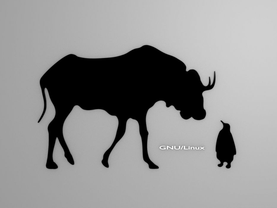 animals Linux tux gnu wallpaper