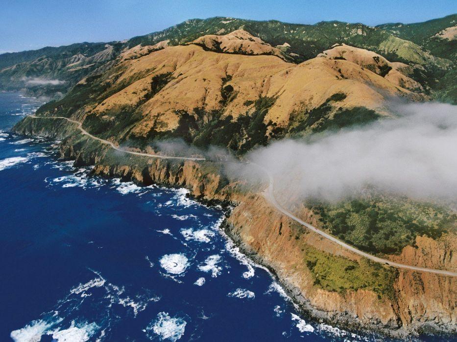 California highways aerial view wallpaper