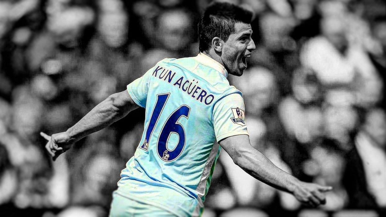 soccer HDR photography Manchester City Kun Aguero wallpaper