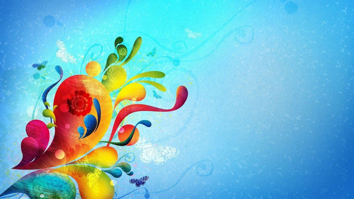abstract artwork colors wallpaper