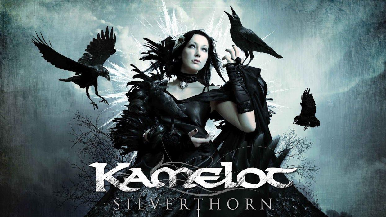 brunettes blondes women band Kamelot Metal Music musican gothic metal silverthorn wallpaper