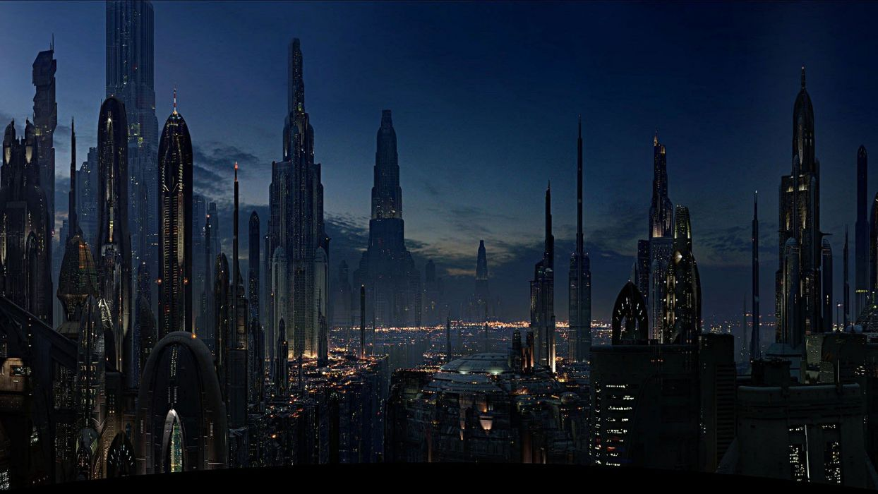 Star Wars cityscapes Coruscant wallpaper