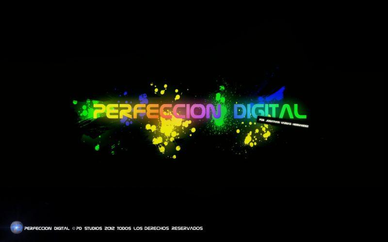 Perfeccion Digital splatters wallpaper