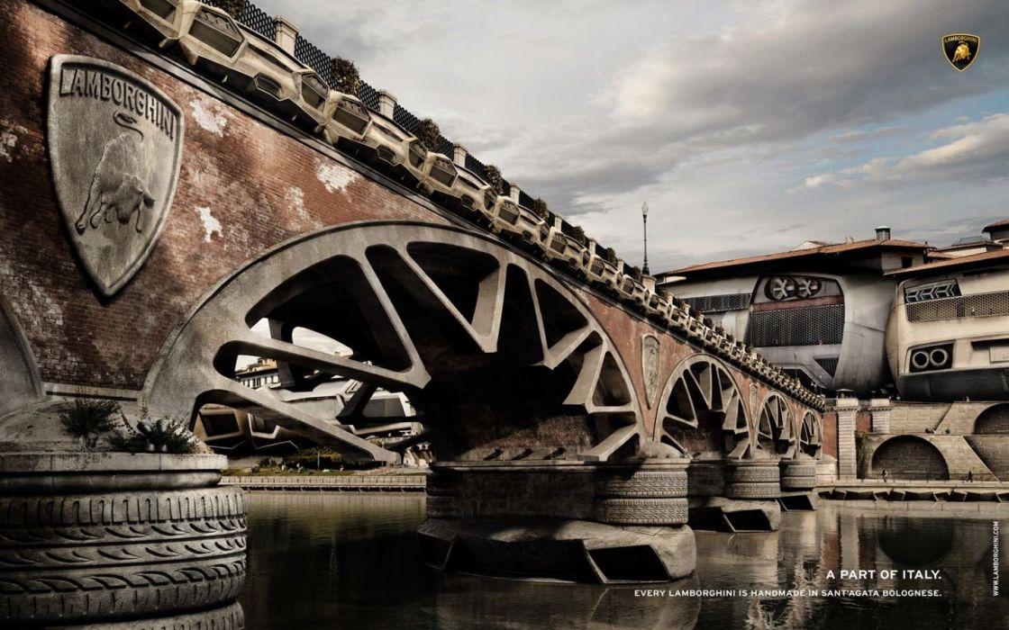 bridges rivers wallpaper