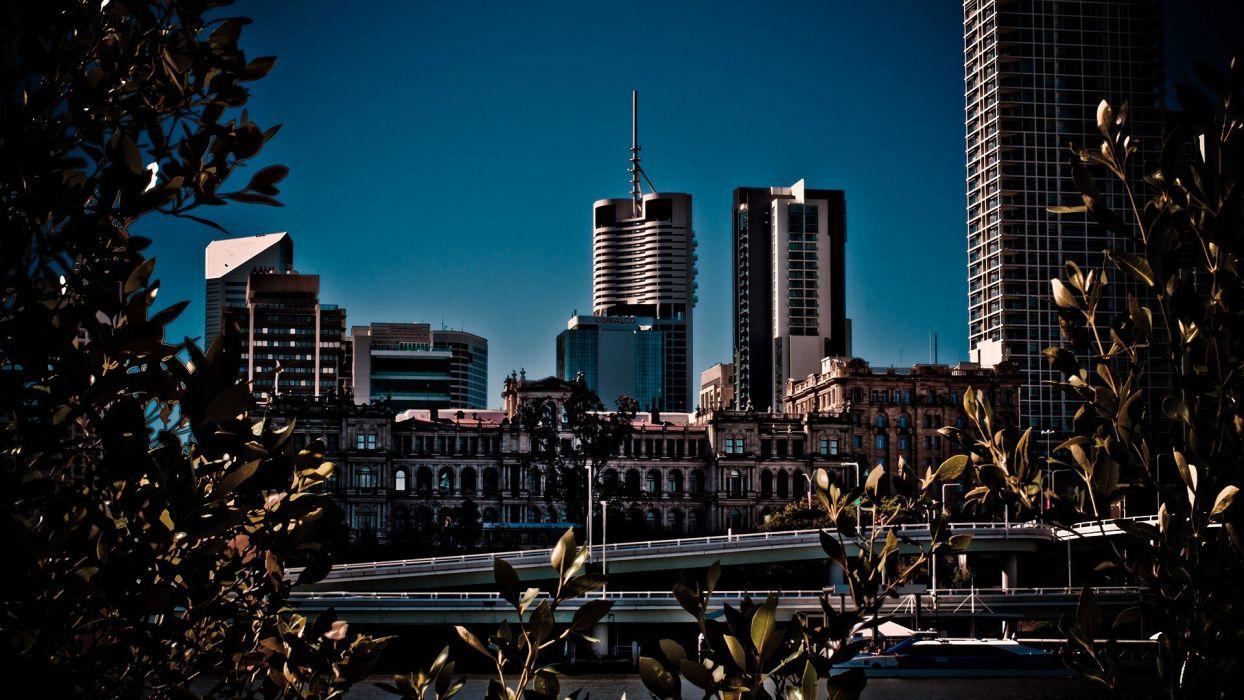 cityscapes buildings brisbane Australia wallpaper