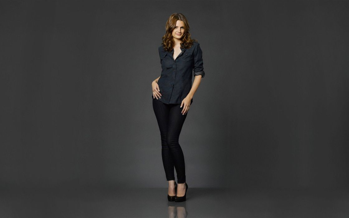 women models Stana Katic Castle TV Series wallpaper