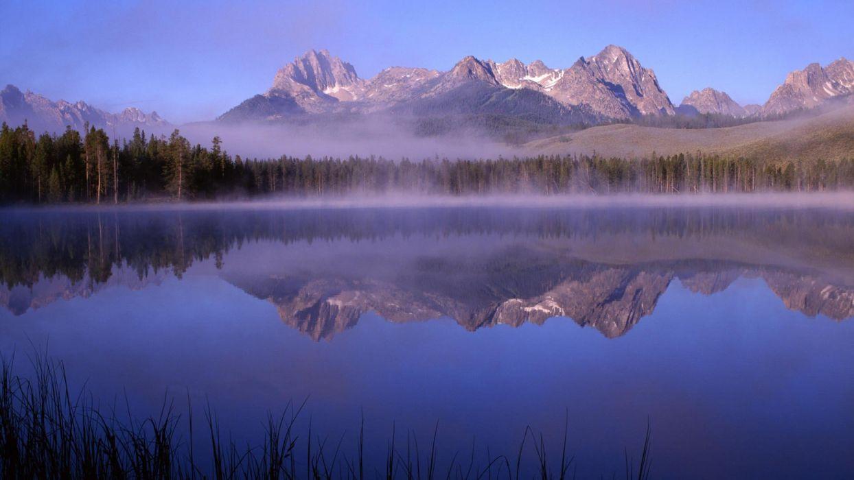 little Idaho morning lakes wallpaper