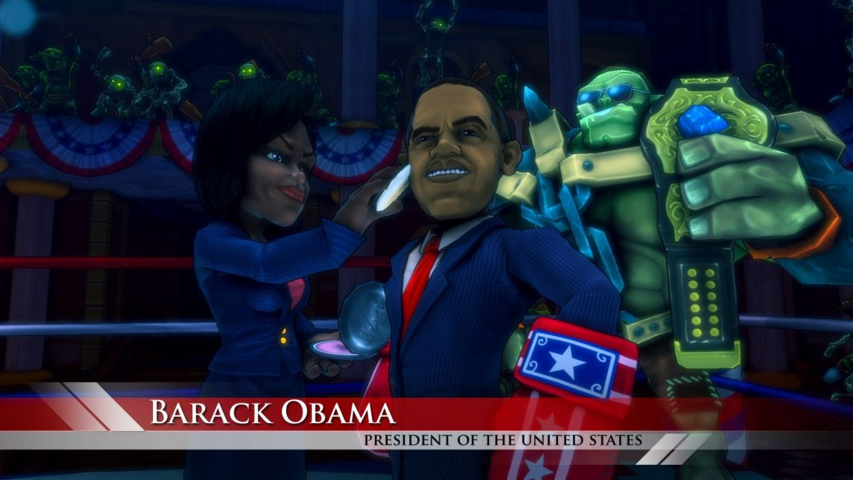 video games Barack Obama Presidents of the United States Michelle Obama Dungeon Defenders wallpaper