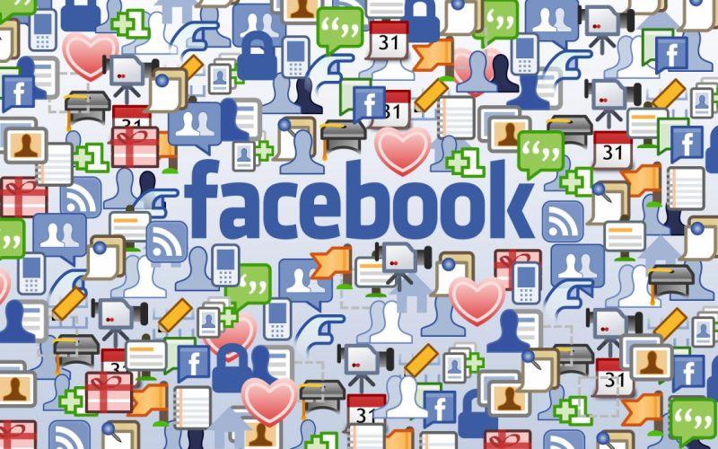 Facebook logos wallpaper