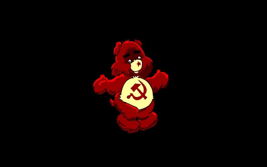 communism bears black background wallpaper