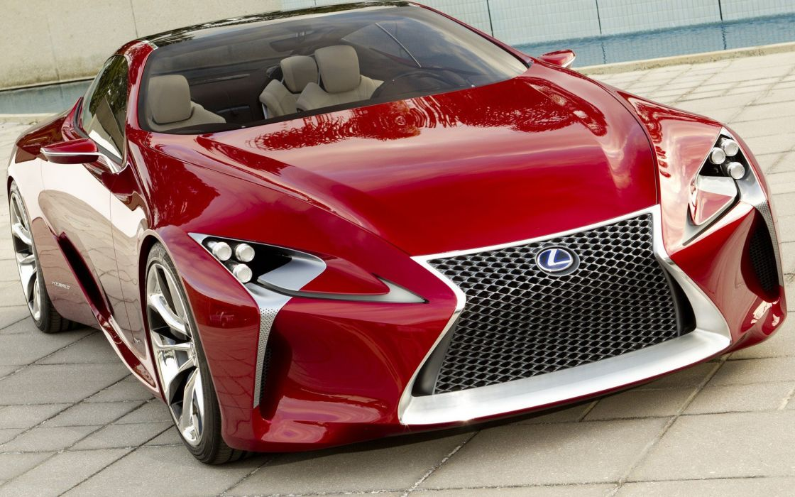 cars red cars Lexus LF-LC Concept wallpaper