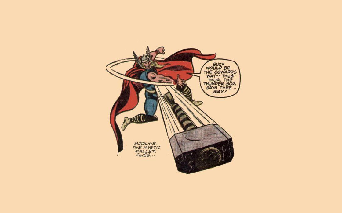 comics Thor Marvel Comics Mjolnir wallpaper