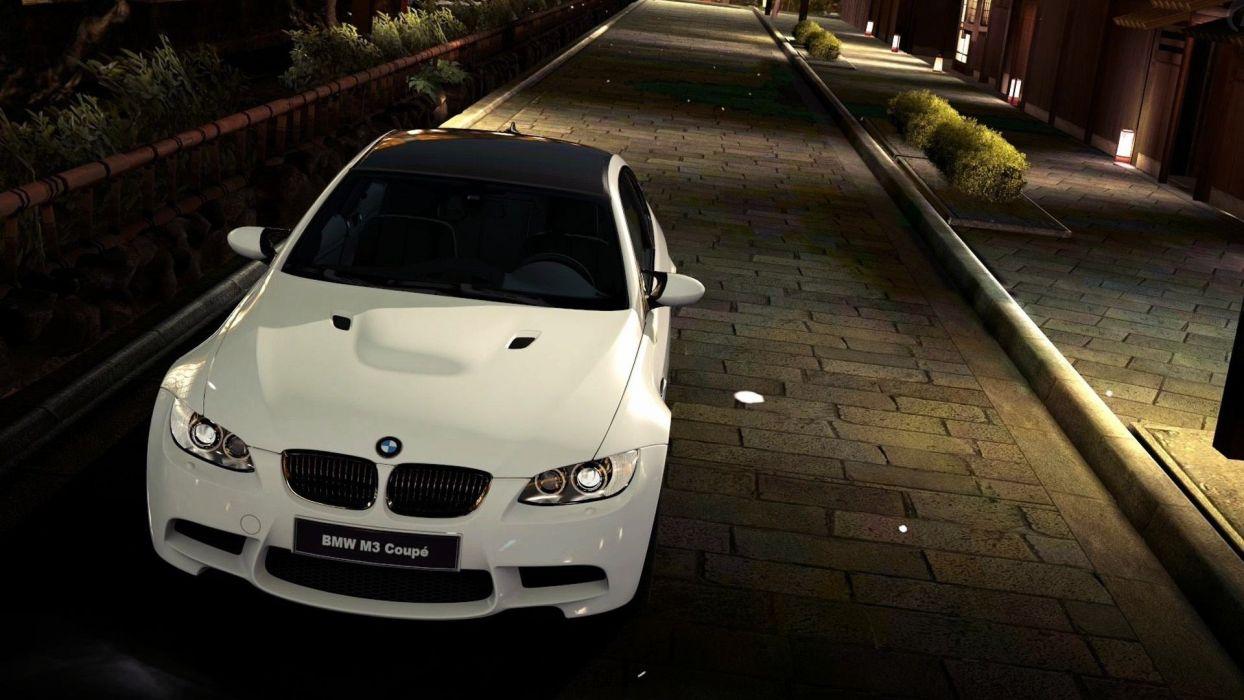 BMW cars outdoors roads vehicles BMW M3 BMW 3 Series Gran Turismo 5 wallpaper