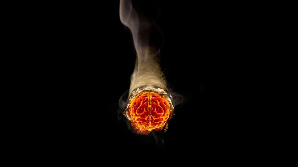 smoke brain cigarettes photo manipulation wallpaper