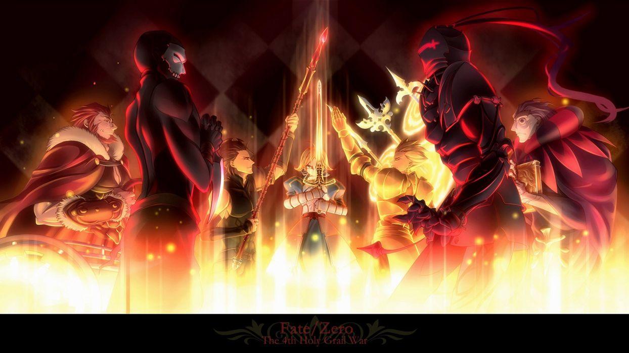 Fate Stay Night Gilgamesh Saber Fate Zero Rider Fate Zero