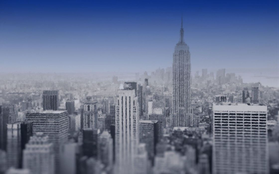 cityscapes artistic New York City Empire State Building wallpaper