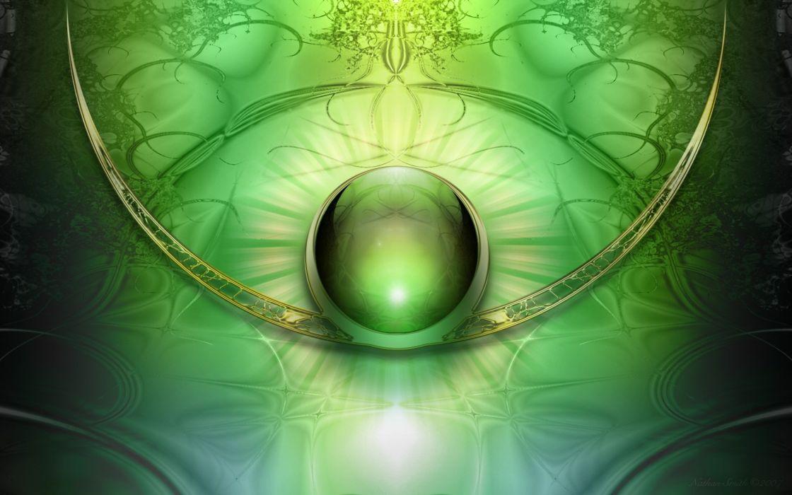 green abstract balls wallpaper