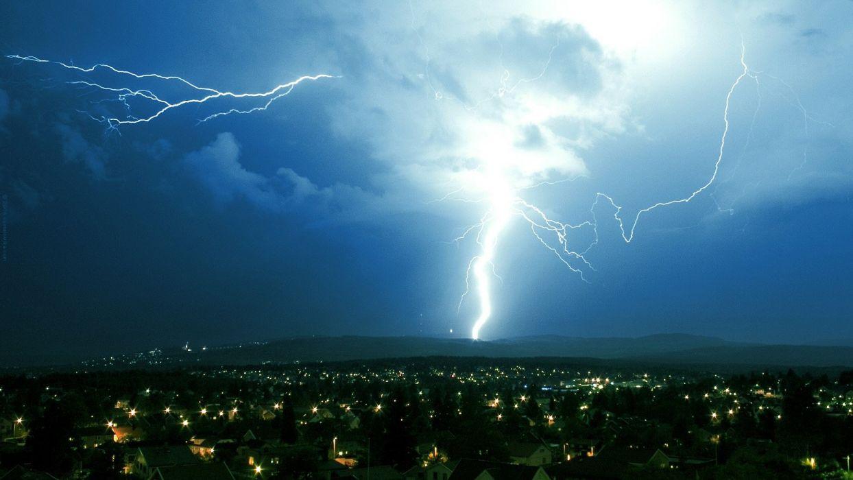 night storm lightning skyscapes wallpaper