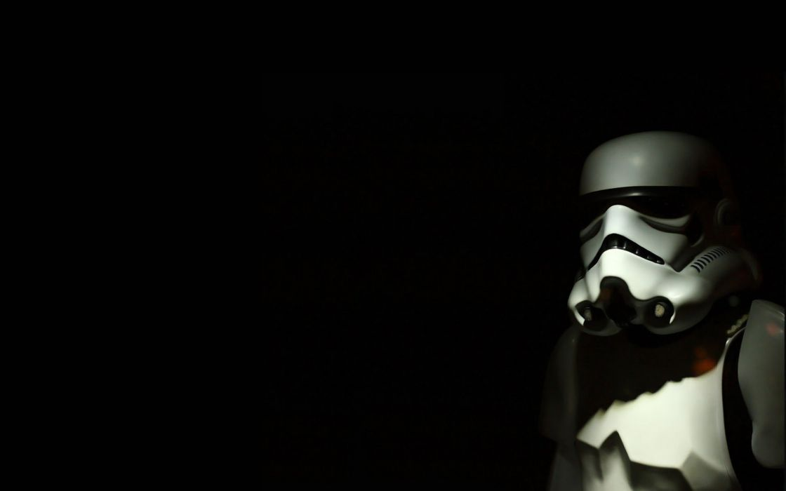 Star Wars black stormtroopers simple background black background wallpaper