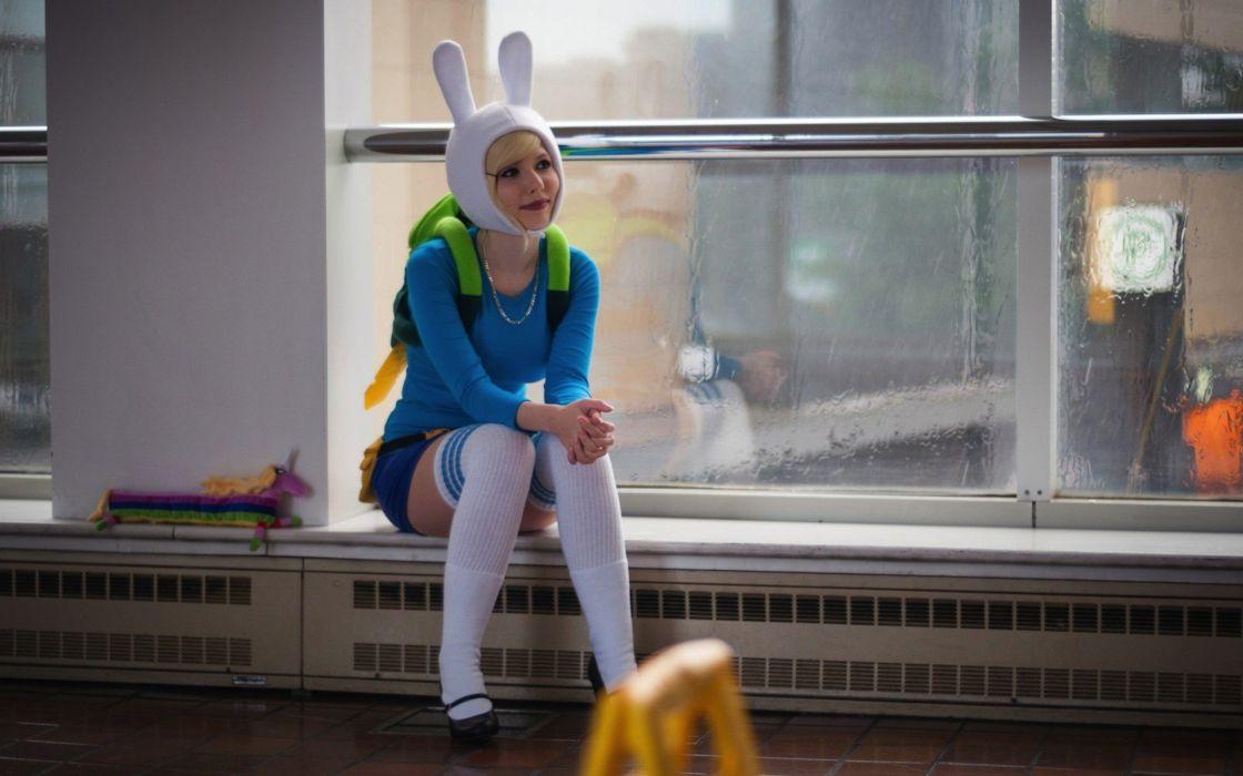 Adventure Time Cosplay Blonde Knee Highs wallpaper