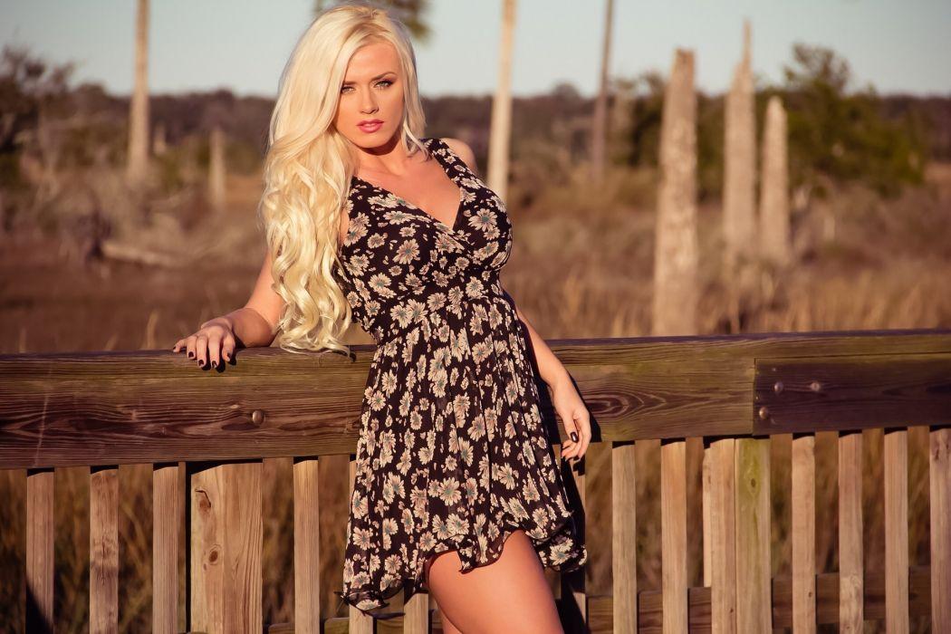 Aida Ridic blonde hair dress wallpaper
