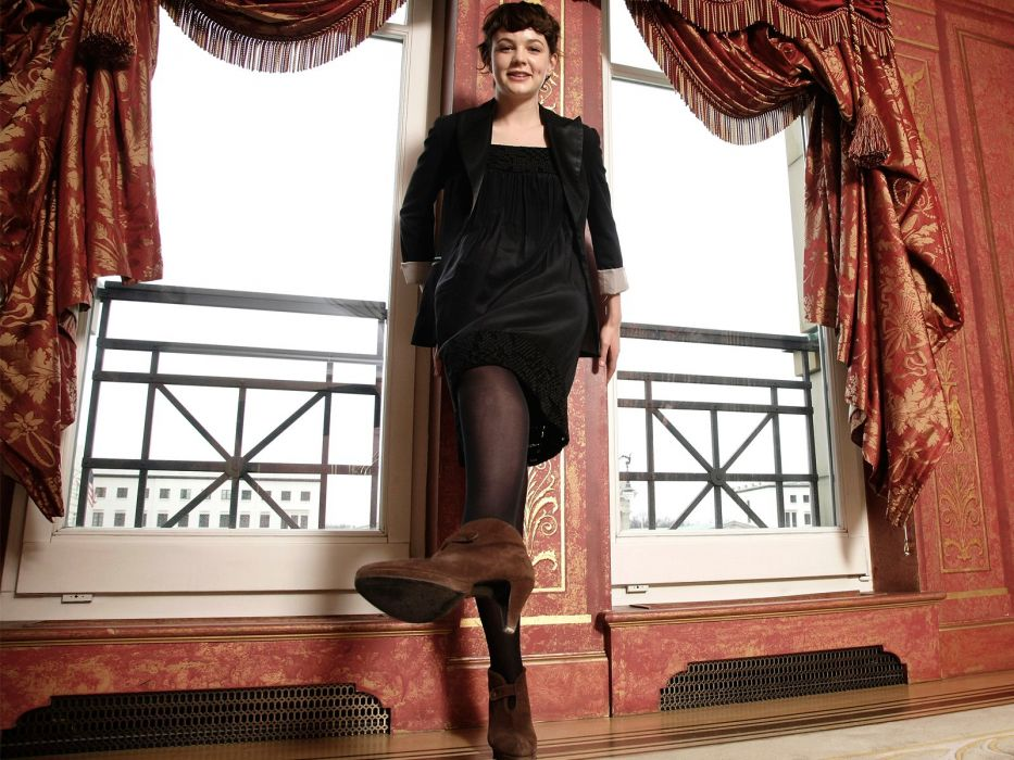 Carey Mulligan Pantyhose Dress Stilettos Girls wallpaper