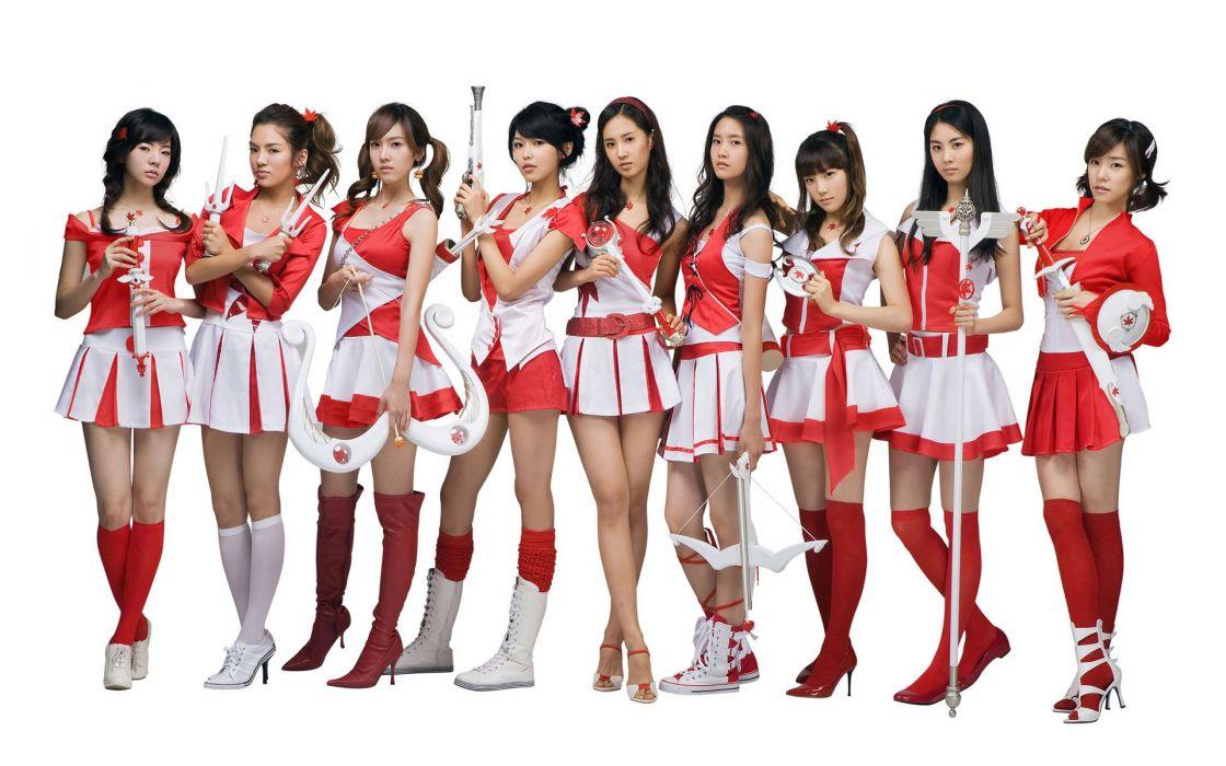 Cosplay Asian Brunette Skirt Girls' Generation kpop k-pop wallpaper