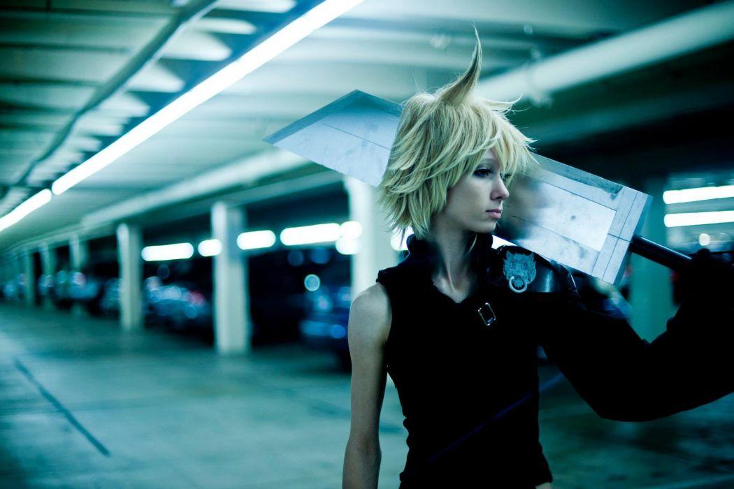 Final Fantasy Sword Cosplay Blonde wallpaper