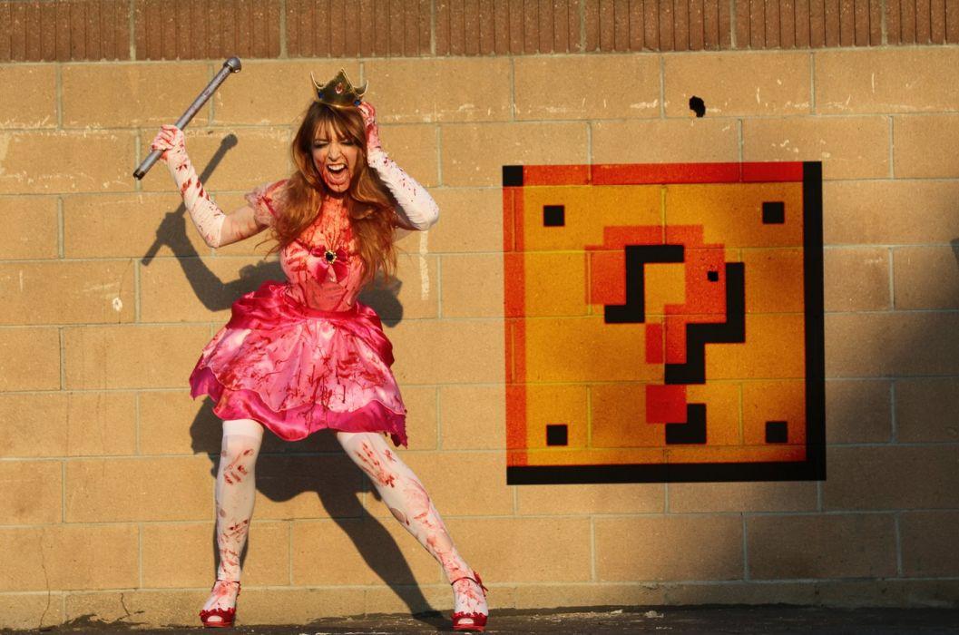 Mario Princess Peach Blood Cosplay wallpaper