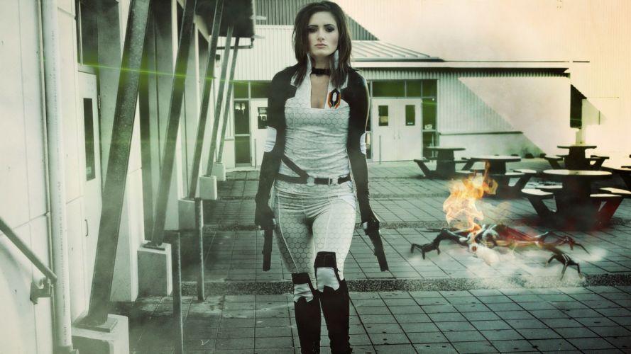 Mass Effect Brunette Cosplay wallpaper