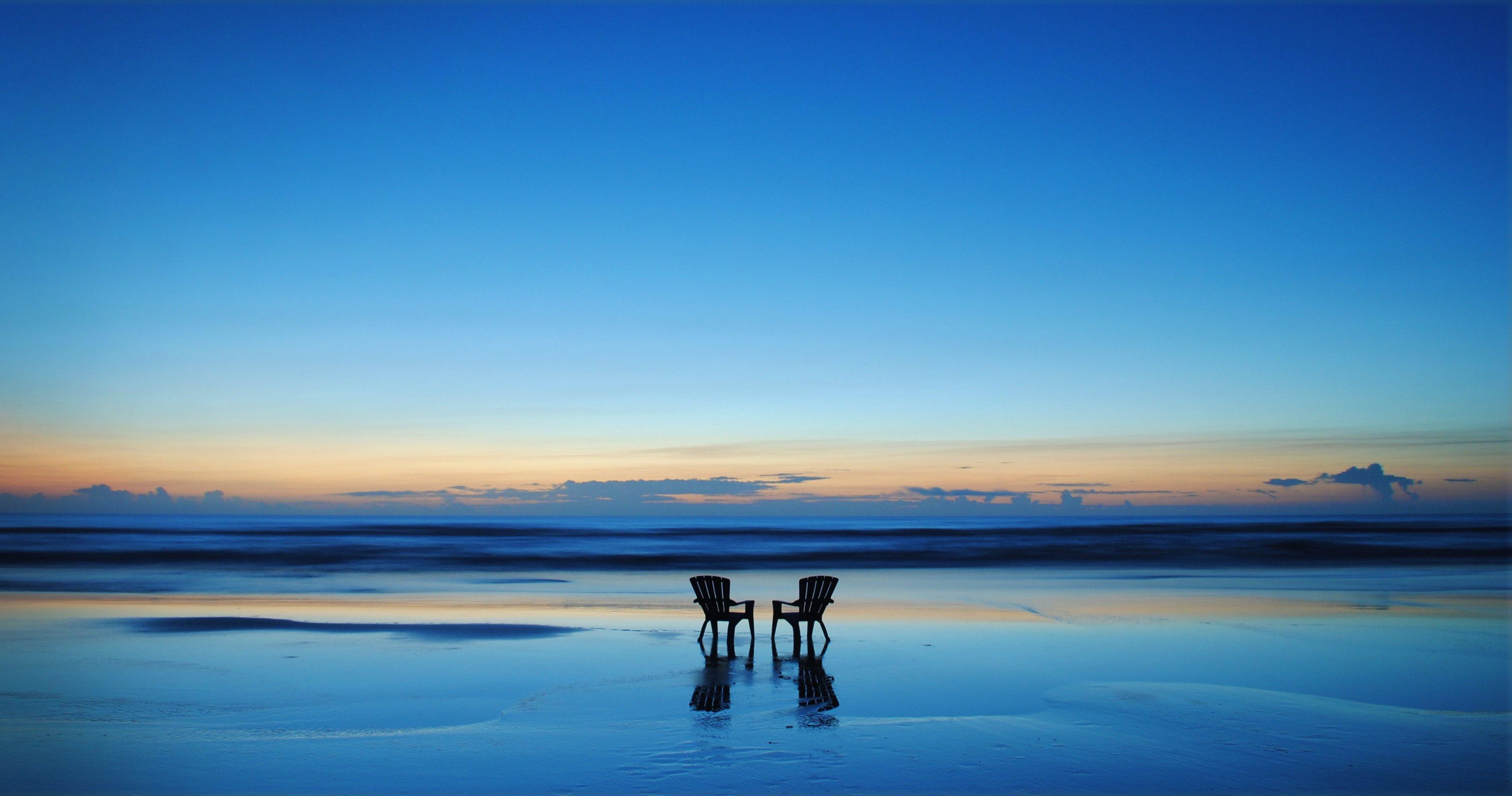 Beach sunset with chairs - Beach Sunset With Chairs