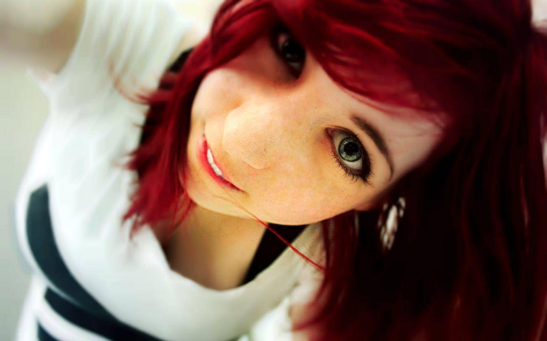 Redhead Face wallpaper